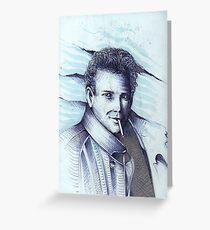 Mickey Rourke ( Pre-Plastic ) Greeting Card