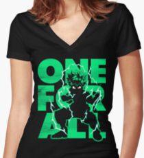 Camiseta entallada de cuello en V Uno para todos - Héroe
