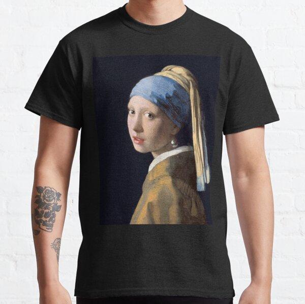 GIRL, Girl with a Pearl Earring, ART, Painting, VERMEER, Johannes Vermeer, Meisje met de parel. Classic T-Shirt