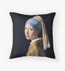 MÄDCHEN, Mädchen mit einem Perlenohrring, KUNST, Malen, VERMEER, Johannes Vermeer, Meisje met de parel Sitzkissen