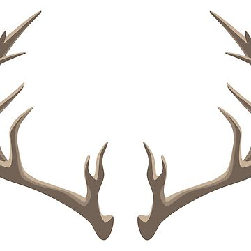 Antlers  Illustration by hobrath