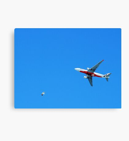 I'll Race you from the Airport.. Canvas Print
