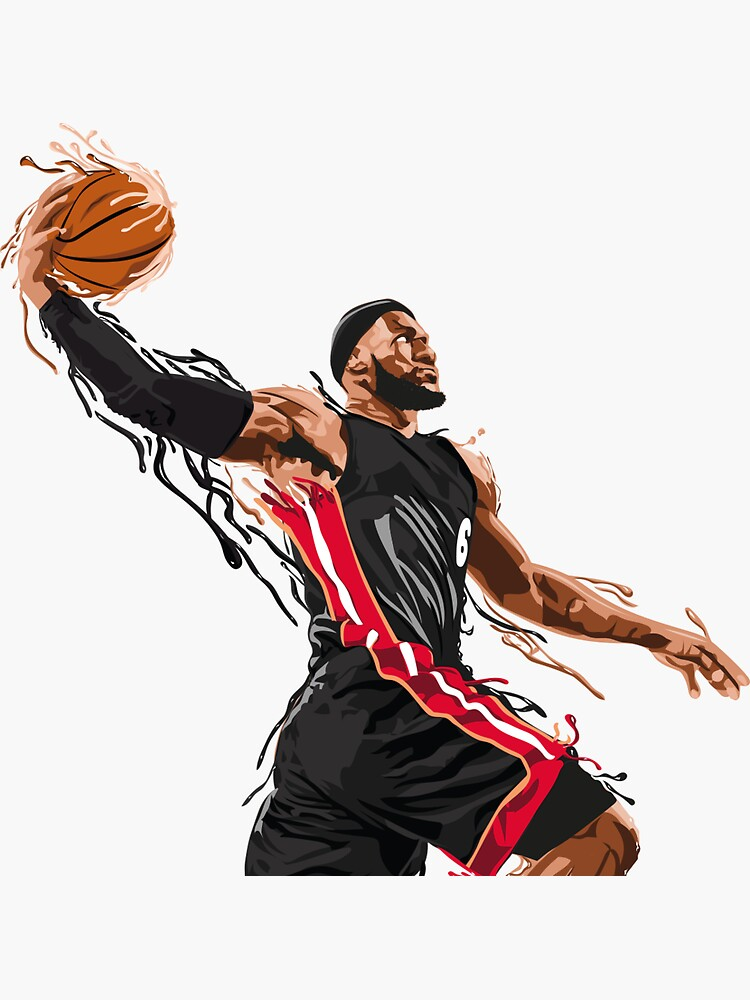 LeBron James Sticker ! Graphic sticker by Xouuu
