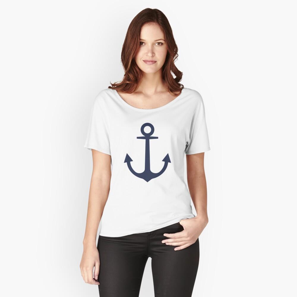 Anchor | Woman Sea T-shirt | Sargassa Sea Color Relaxed Fit T-Shirt