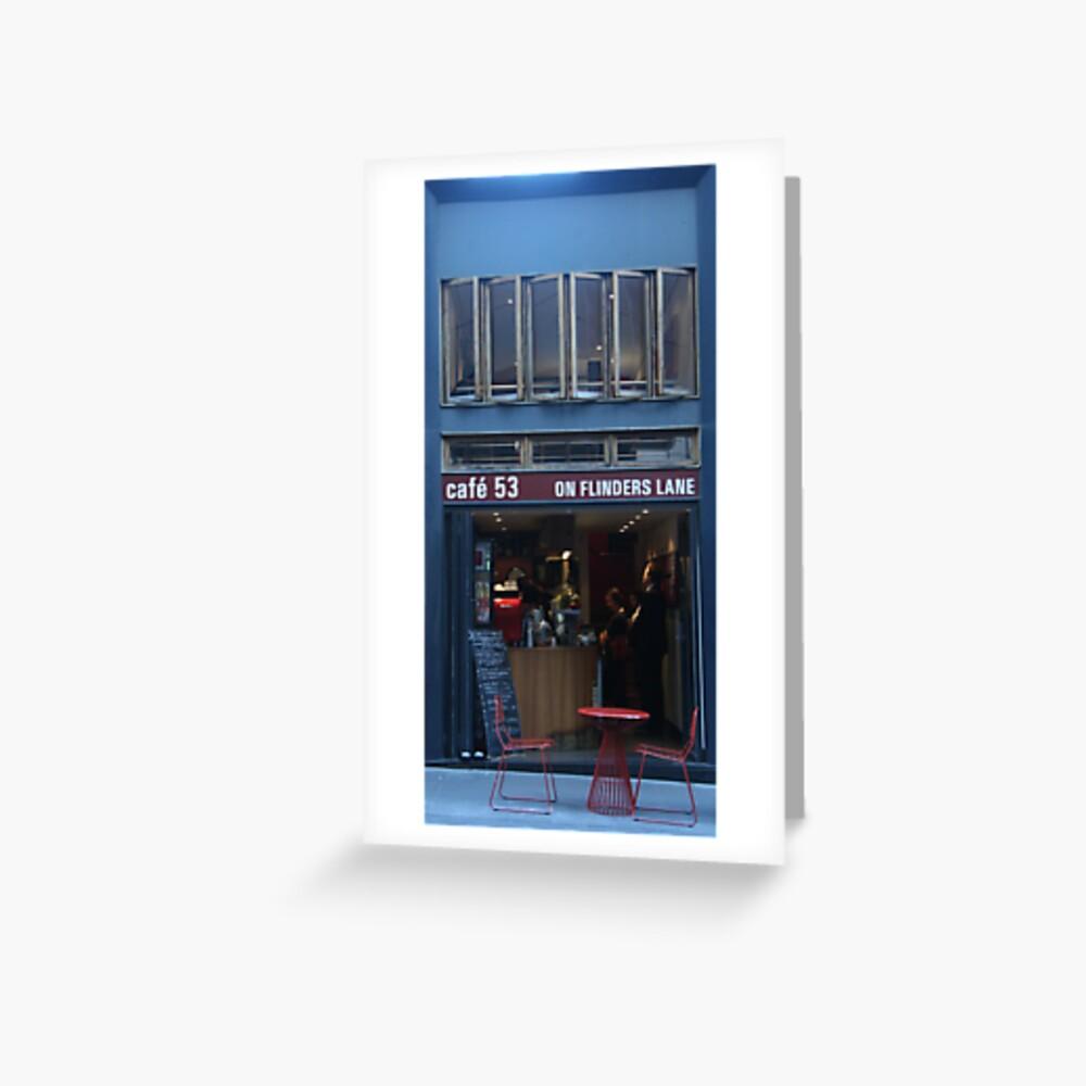 Flinders Lane Cafe Greeting Card