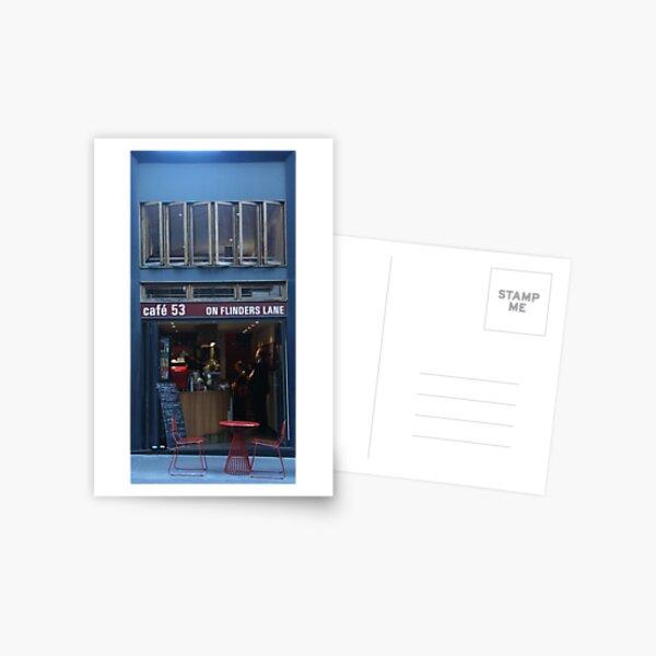 Flinders Lane Cafe Postcard