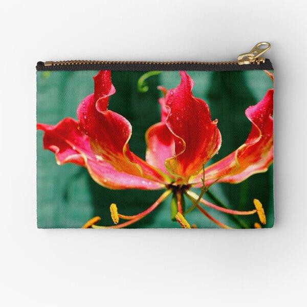 Flame Blossom Zipper Pouch