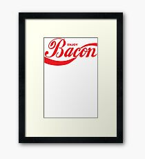 Enjoy Bacon Mens Womens Hoodie / T-Shirt Framed Print