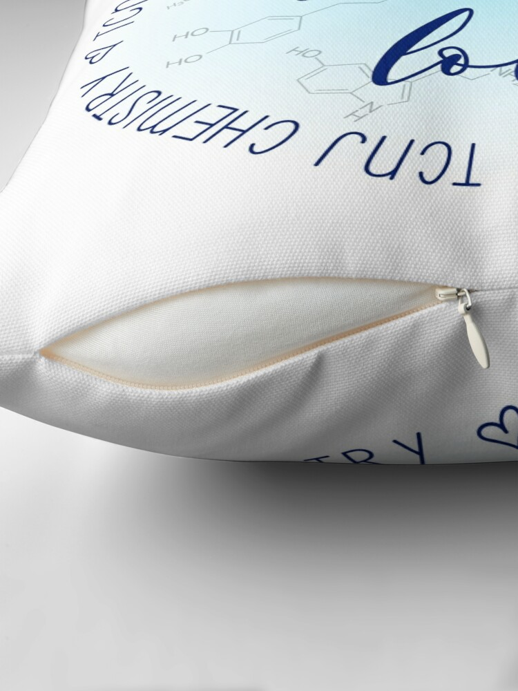 Alternate view of Live Laugh Love TCNJ CHem Throw Pillow