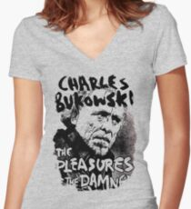 Charles Bukowski Women's Fitted V-Neck T-Shirt