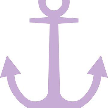 Anchor | Woman Sea T-shirt | Crocus Petal Color by artbaggage
