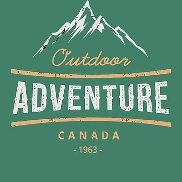 Outdoor Adventure Retro T Shirt by Inna-Buhayko