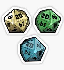 Elemental D20 Dice sticker set Sticker