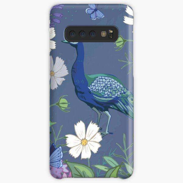 Peacock in a botanical garden Samsung Galaxy Snap Case