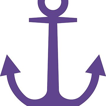 Anchor | Woman Sea T-shirt | Ultra Violet Color by artbaggage