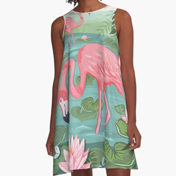 Flamingo Grove A-Line Dress