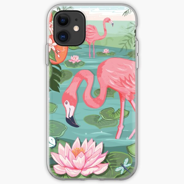 Flamingo Grove iPhone Soft Case