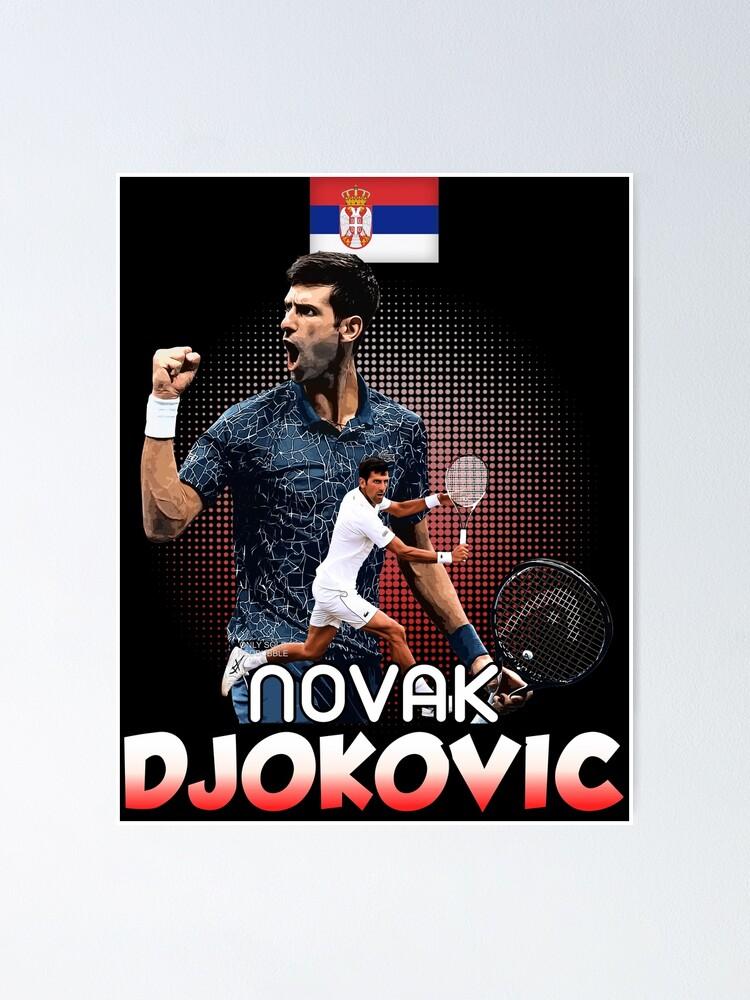 Tennis Novak Djokovic Us Tshirt Poster By Summerflowers10 Redbubble