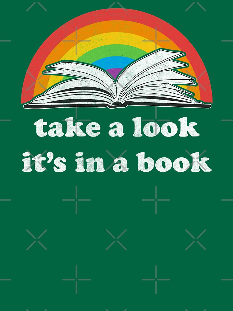 Take a look, its in a book - Retro inspired Reading Rainbow by KellyDesignCo