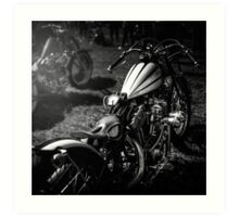 Classic Custom Motorcycles Art Print