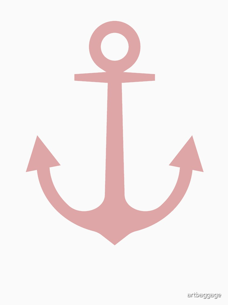 Anchor   Woman Sea T-shirt   Mellow Rose Color by artbaggage