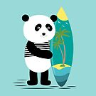 Surf along with the panda by grafart