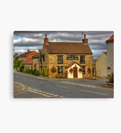 Milbank Arms - Well near Bedale Canvas Print