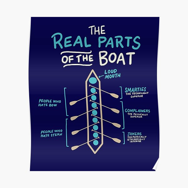 Rowing The Real Parts Of The Boat Funny  Poster
