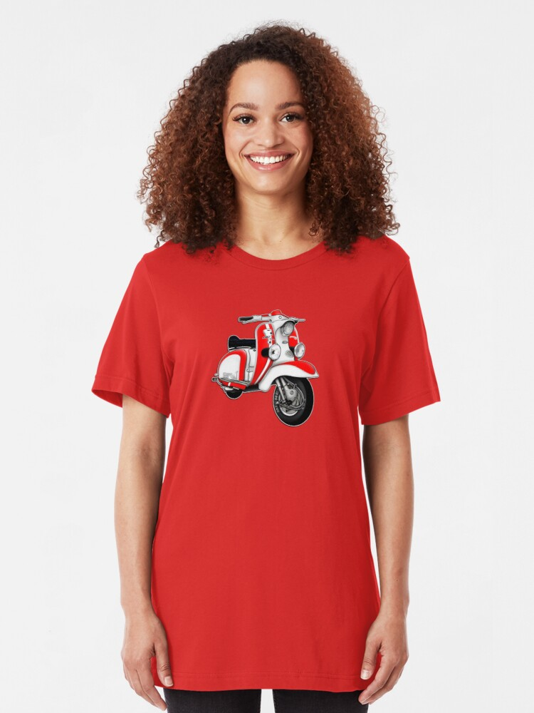 Alternate view of Scooter T-shirts Art: TV 175 Series 1 Mod style racer. Slim Fit T-Shirt