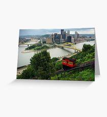 Pittsburgh Duquense Incline Greeting Card