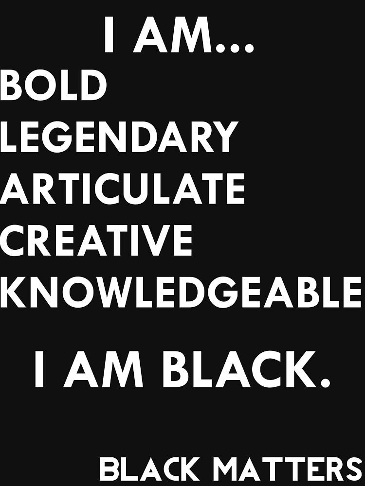 I AM BLACK | Unisex T-Shirt