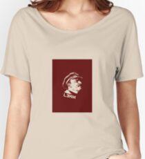 LENIN RED PORTRET LOGO Women's Relaxed Fit T-Shirt