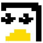LINUX TUX PENGUIN PIXEL FACE  by SofiaYoushi