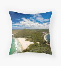 Stunning coastline Throw Pillow