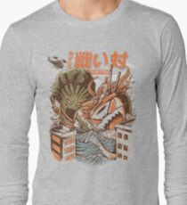 Kaiju Food Fight Long Sleeve T-Shirt