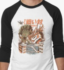 Kaiju Food Fight Baseball ¾ Sleeve T-Shirt