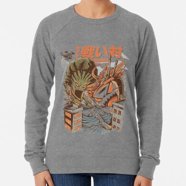 Kaiju Food Fight Lightweight Sweatshirt