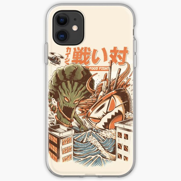 Kaiju Food Fight iPhone Soft Case
