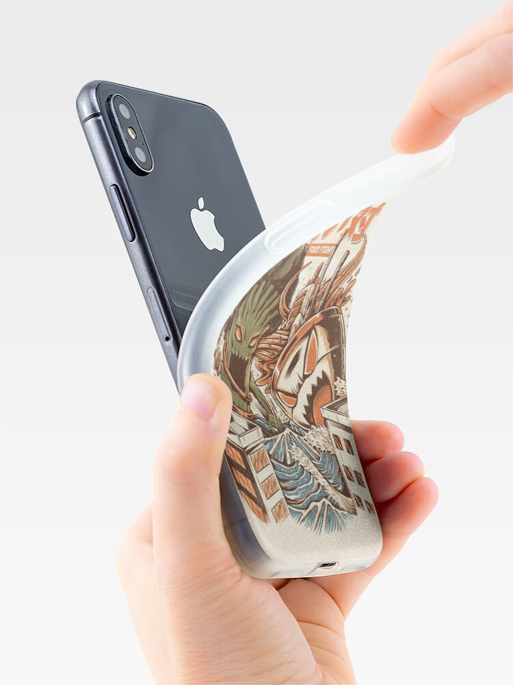 Alternate view of Kaiju Food Fight iPhone Case & Cover