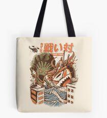 Kaiju Food Fight Tote Bag