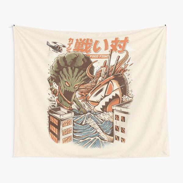 Kaiju Food Fight Tapestry