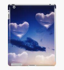 Surrealist romantic love hearts surreal sky multiple exposure iPad Case/Skin