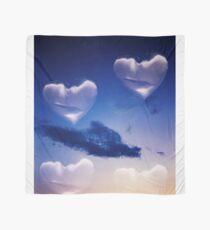 Surrealist romantic love hearts surreal sky multiple exposure Scarf