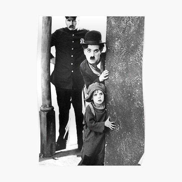 Charlie Chaplin la película muda del niño Póster
