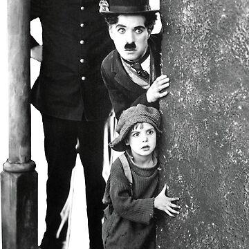 Charlie Chaplin The Kid silent Film by AtticSalt