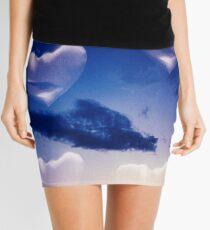 Surrealist romantic love hearts surreal sky multiple exposure Mini Skirt