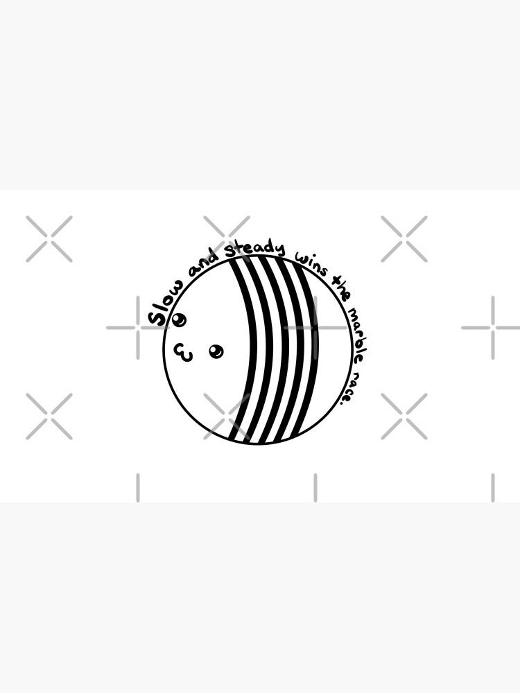 Marble Racing - langsam und stetig (weiß / transparent) von Asteyni