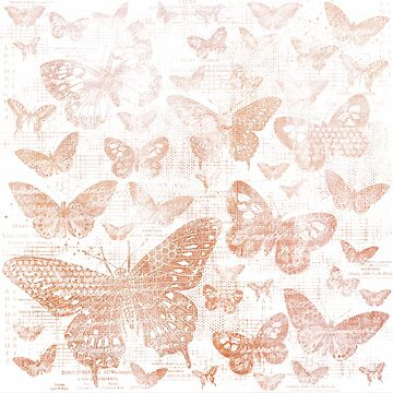 shabby rose gold butter flies pattern,shabby chic, rose gold ,butterflies, pattern, victorian,belle epoque,vintage,rustic,french chic, wedding by love999
