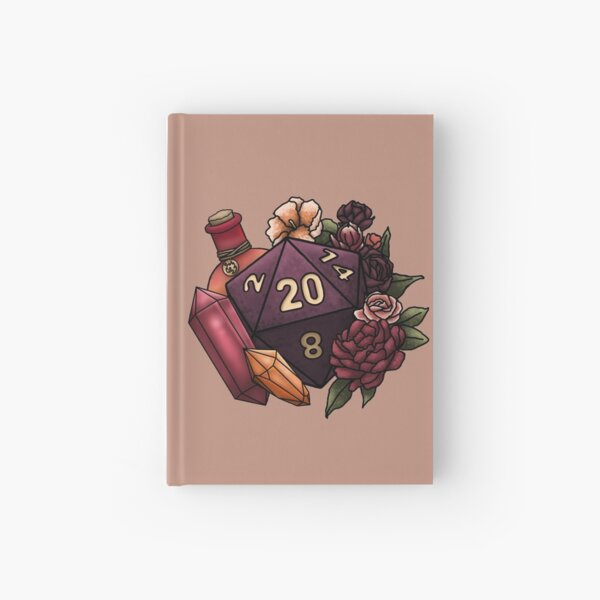 Sorcerer Class D20 - Tabletop Gaming Dice Hardcover Journal