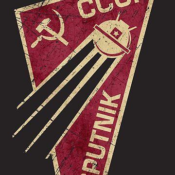 CCCP Soviet Satellite Sputnik V01 by Lidra